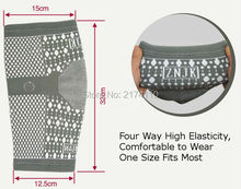 Magnetic Fabric Fit Knee Support Brace Sports Protection Pain Relief for Arthritis Tourmaline Knitted Knee Pads