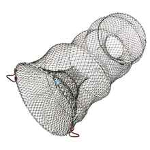 2Pcs 60*33cm 2cm Mesh Foldable Fishing Hand Trap Net Pot Trap Cage For Catching Crab Crayfish Lobster Shrimp Prawn Eel