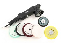 "CLOVER 15mm or 21mm Dual Action Polisher with 5"" and 6"" backing pads and 6"" foam polishing pads for cutting,polishing,finishing"