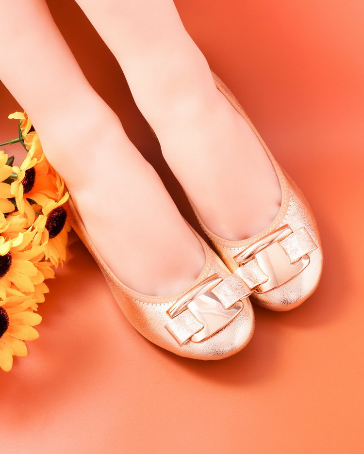 New Korean Slip On Balerinas Shoes For Womans Sweet Bow Metal Ladies Flat Genuine Leather Shoes Loafers Footwear Women Ballerina (7)
