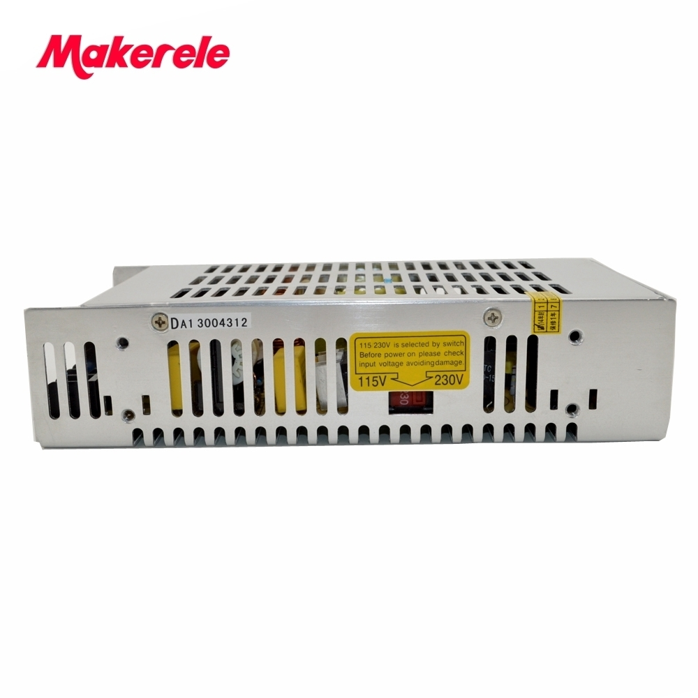 low price CE approved safe standards dc voltage S-201-27 7.4A 200W 27V single output metal case switching power supply<br>