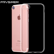 2017 NEW Transparent Clear Case for iPhone 5 5s SE 6 6S 7 Plus Soft Gel TPU Silicone Ultra Thin Mobile Phone Cover Cheap Funda