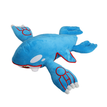 35cm high-quality kawaii Amime Kyogre Toy soft short plush stuffed companion friend toy for children great gift sleepy friend