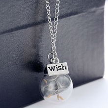 Newest Design Accessories Glass Plant Dry Dandelion Stand For Wishes Best Wishes Set Friends Family Lovers Couple Men Women Gift