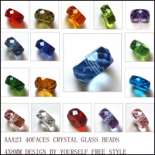 2017 New Arrival Fashion Faceted Crystal Beads 4*8mm Loose Tyre Shape DIY AAA Jewelry Beads 100pcs StreBelle(China)