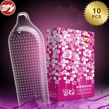 Buy Beilile 10PCs Rose Flavor Big Particle Condom Floating Dotted G-spot Stimulation Penis Cock Sleeve Intimate Sex Products Men