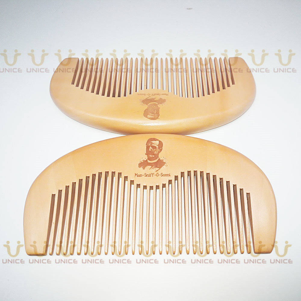100pcs/lot Your LOGO Customized Private Label Combs Hair Beard Wood Comb for Men & Women for Barber Shop Retail Case 58