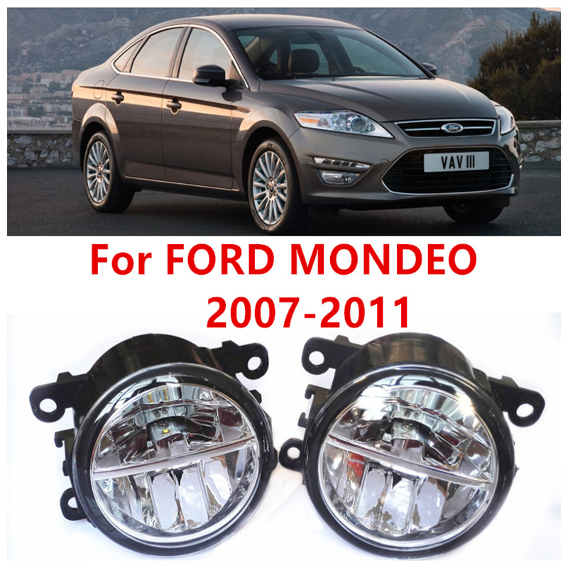 For FORD MONDEO 2007-2011  10W Fog Light LED DRL Daytime Running Lights Car Styling lamps<br><br>Aliexpress