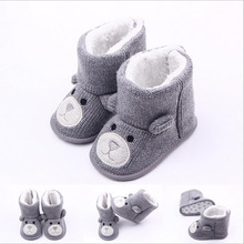TongYouYuan Winter Warm Baby Shoes Boys First Walkers Knitted Sweater Boots Girls Toddler Shoes 0-1 Years Olds Baby Boy Shoes
