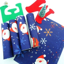 Printed fleece christmas felt fabric new arrival polyester soft felt from home textiles for sewing dolls handicrafts 18x15 cm