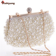 Latest Women's Beaded Diamond Day Clutches Pearl Glassbeads Embroidery Craft Evening Bag Wedding Party Handbag Shoulder Bags