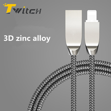 Zinc alloy Durable USB Cable for iPhone 7 6S Plus SE 5S , Micro USB Cable for Samsung S7 S6 Xiaomi LG Fast Charger Adapter Cord