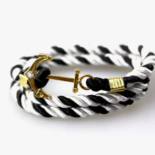 Pick 15colors Anchor bracelets Infinity bracelet Wrap Rope Charm Fish Hook Paracord Men Women Miansai Style jewelry