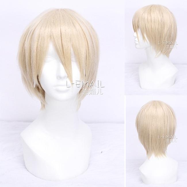 Free Shipping 30cm Kristoff DuRaRaRa Shizuo Heiwajima Short Blonde Cosplay Wig Men<br><br>Aliexpress