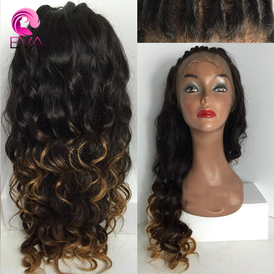 7A Glueless Full Lace Human Hair Wigs Ombre Virgin Hair Lace Front Wigs With Baby Hair For Black Women Human Hair Brazilian Wigs<br><br>Aliexpress