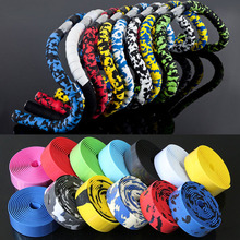 Handlebar Tape For Cycling Road Bike With 2 Bar Plug Handles For Bike Bicycle Rubber Spone Handle Bar Tape Bicycle Accessories(China)