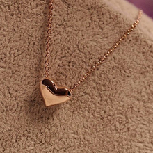 2016 Hot Fashion Accessories Fresh Peach Heart Chain Necklace For Women Free Shipping X1