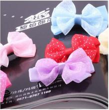 (20pc/lot) Wholesale Pet dog puppy big hair bows grooming decoration bows Pet hair clips hairpin teddy exquisite hair accessory(China)
