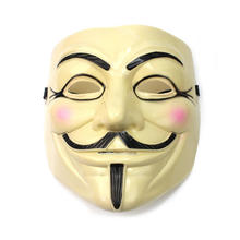 Free Shipping V for Vendetta Team Guy Fawkes Mask Masquerade Party Horror Mascara Cosplay PVC Halloween Masks CS00414 S03(China)
