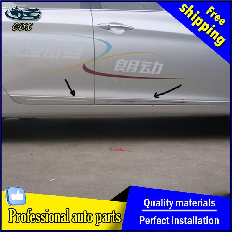 Fit for Hyundai Elantra/Avante 2012-2015 side door body Chrome trim AKD car styling high quality abs side door strip 4 pcs<br><br>Aliexpress