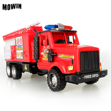 MOWIN Big Size Cartoon Toy Car Inertia Fire Truck Car Toy Vehicles Juguete Vehicle Infantis Brinquedos Nice 0-15Y Boys Best Gift(China)