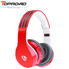 TOPROAD Wireless Bluetooth Headphones Stereo with Microphone Headband Support Hands-free TF FM Foldable Headset for Cell Phones