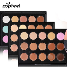Popfeel 15 Colors Foundation Face Contour Palette Bronzer Corrector Base concealer Makeup Powder Primer MakeUp Contouring