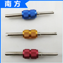 200pcs/lot 2 Side Dual Tyre Valve Core Remover Repair Tool Key Car Commercial, Agricultural 3 Colors for Bike