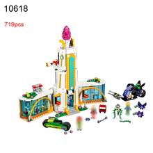 10618 719Pcs DC Super Heroes Girl School Poison Ivy Building Blocks Compatible 41232 DIY Educational Brick Toys Christmas Gift(China)
