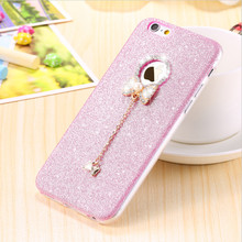 For iPhone 7 Case Glitter Bling Diamond Butterfly Bowknot Soft TPU Case For iPhone 5S Case Silicone 3D For iPhone 6S Plus 7 Plus