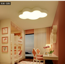 White cloud children room lights three lights color modern cartoon LED ceiling lamp bedroom light room living room free shipping
