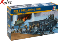 RealTS Italeri Model Kit - LCM 3 50ft Landing Craft With d- 1:35 Scale - 6436