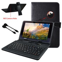 "10 inch Universal Leather Case Cover with Micro Mini USB Keyboard For Tablet PC Universal keyboard case for 10.1"" tablet."