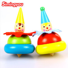 Simingyou 2 Models Wooden Toys 2 Pcs/set Baby Rotary Gyro Tumbler Educational Toys Children Toys D10-A-230 Drop Shipping(China)