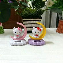 4 Pieces Per Lot Swing Under Full Light Mischievous Solar Home Decoration Novelty Solar Dancing Moon Hello Kitty Style Doll(China)