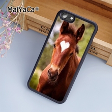 MaiYaCa Chesnut Horse Beautiful Heart Marking Colt Phone Case Cover For iPhone 5s SE 6 6s 7 8 plus 10 X Samsung Galaxy S6 S7 S8(China)