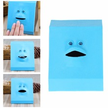 Amazing Face Bank Money Eating Box Coin Saving Bank For Children Birthday Gifts Practical Jokes Toy(China)