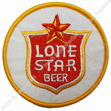 Vintage Lone STAR Beer Collectors Embroidered iron on patch MORALE Motorcycle Club biker vest badge retro emo punk applique