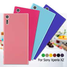 For Sony Xperia XZ Phone Cases Rubber Coating Back Plastic Phone Case Cover Bag Shell for Sony Xperia X Z- Pink