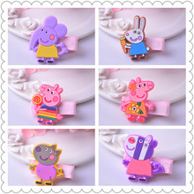 Cartoon Plastic Animal Hair Clip Cute Pig Girl Elephant Barrette Rabbit Zebra Soft Resin Kid Hairpin Hot Sale Designs