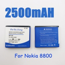 2500mAh BP-6X Li-ion Phone Battery for Nokia 8800 8860 8800 Sirocco N73i(China)