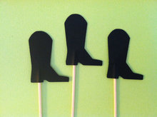 Cowboy boot cupcake toppers rustic wedding birthday baby shower Party appetizer picks