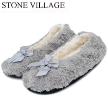 Pretty Rose Veins Women Slippers 2017 Household Slippers 6 Colros Soft Sole Women Indoor Floor Slippers Lovely Bow Girl Slippers(China)