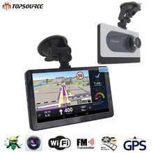TOPSOURCE HD 7'' Car GPS Navigation Android 16GB/512MB With DVR Camera Recorder FM WIFI Sat nav GPS Navigator Capacitive screen