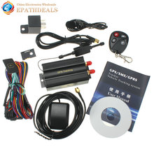 TK103B KA Car GPS Tracker Remote Control Auto Vehicle SMS / GSM / GPRSTracking Device with SOS alarm(China)