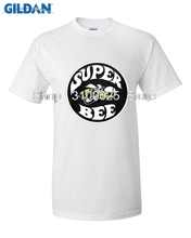 GILDAN Brand Summer Men Cotton Clothing High Quality Custom New Super Bee Logo Vintage Dodge Classic Muscle Car Black T-Shirt