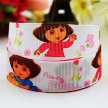 7/8'' (22mm) Dora Cartoon Character printed Grosgrain Ribbon party decoration satin ribbons OEM 10 Yards X-00813