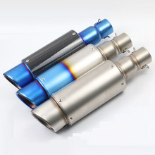 51MM Modified Motorcycle Exhaust Pipe Muffler Universal Scooter GY6 Exhaust Bevel Inlet Exhaust AK071(China)