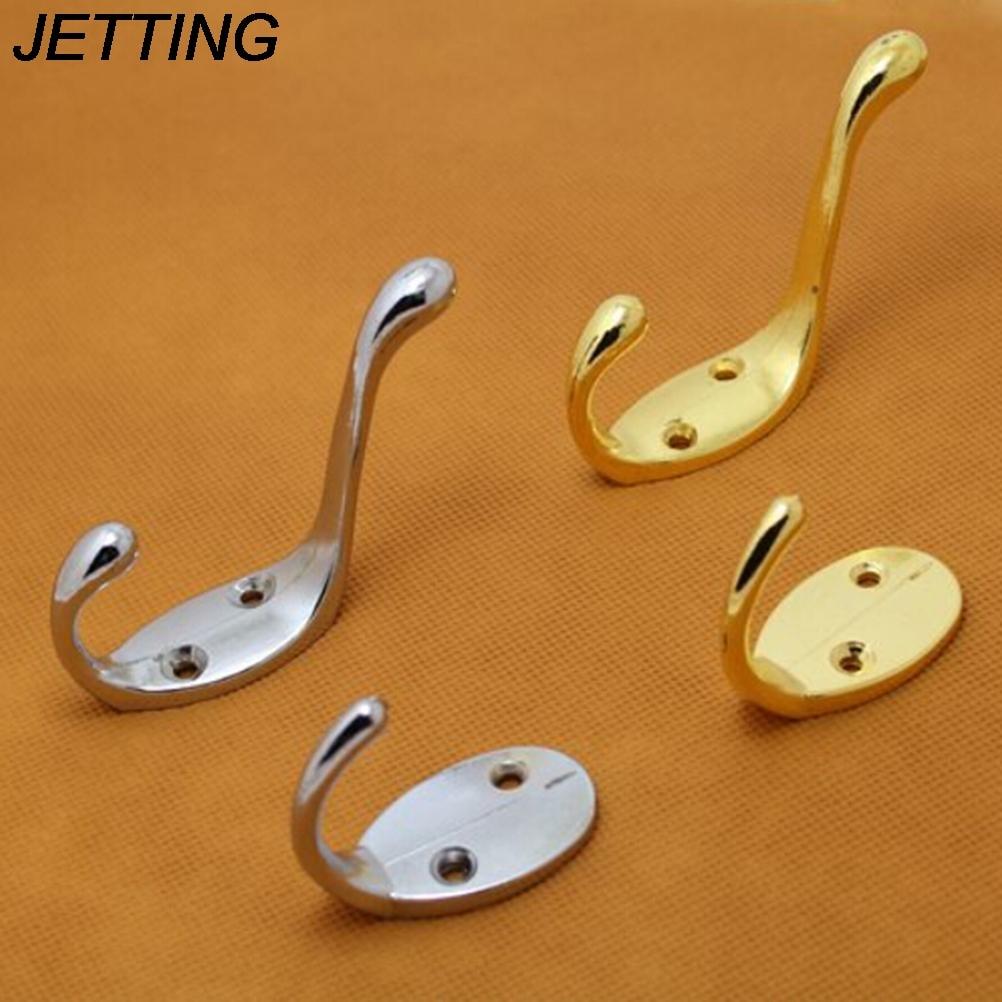 Gold Sliver Color 1PCS Zinc alloy Self Home Kitchen Wall Door Holder Hook Hangers Hanging Coat Hooks