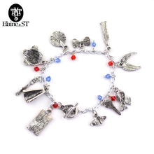 CBRL Doctor Who Charm Bracelet Bohemia Style Charming Bracelet with Police Box Sonic Screwdriver Gas Mask Dalek Evil Robot(China)